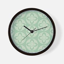 modern vintage seafoam medallion Wall Clock