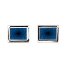 Blue Vortex 7 Rectangular Cufflinks