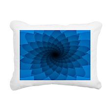 Blue Vortex 7 Rectangular Canvas Pillow
