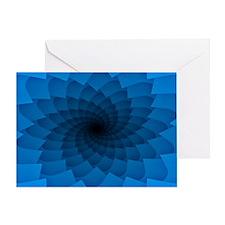 Blue Vortex 7 Greeting Card