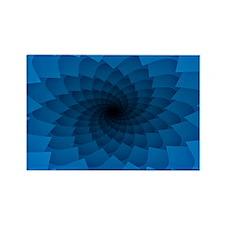 Blue Vortex 7 Rectangle Magnet
