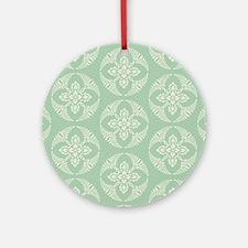 modern vintage seafoam medallion Ornament (Round)