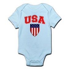 Patriotic U.S.A American Flag Shield Body Suit
