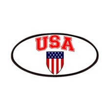 Patriotic U.S.A American Flag Shield Patches