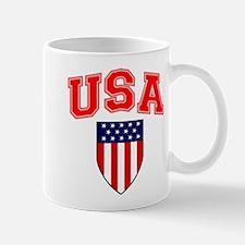 Patriotic U.S.A American Flag Shield Mugs
