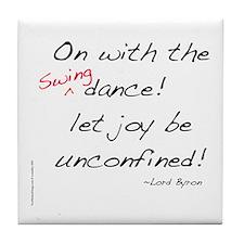 Byron on Swing Dance Tile Coaster
