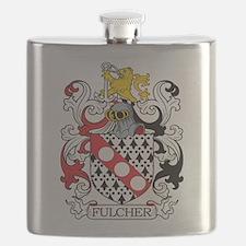 Fulcher Family Crest Flask