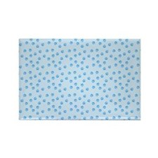 blue pawprints Magnets