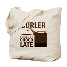 Curler Fueled by chocolate Tote Bag