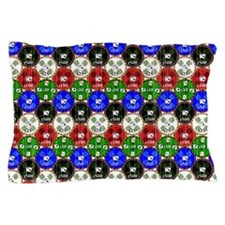 Distressed Casino Chips Pillow Case