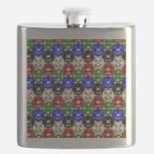 Distressed Casino Chips Flask