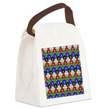 Distressed Casino Chips Canvas Lunch Bag