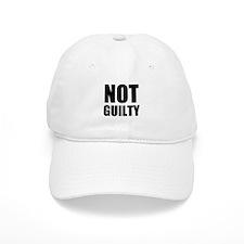 Not Guilty Baseball Baseball Cap