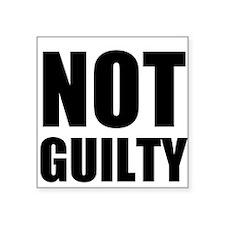 Not Guilty Sticker