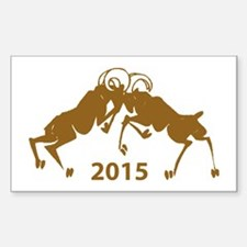 Chinese Year of The Sheep 2015 Sticker (Rectangle)