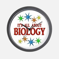 Biology Stars Wall Clock