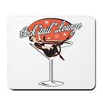 Retro Cocktail Lounge Pin Up Girl Mousepad