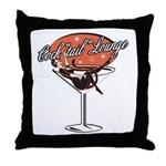 Retro Cocktail Lounge Pin Up Girl Throw Pillow