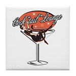 Retro Cocktail Lounge Pin Up Girl Tile Coaster