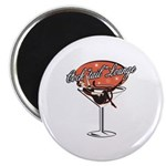 Retro Cocktail Lounge Pin Up Girl 2.25