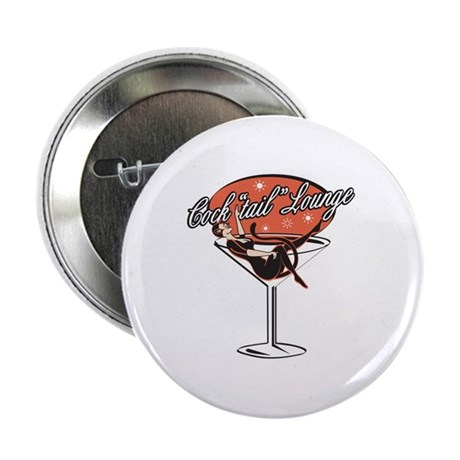 Retro Cocktail Lounge Pin Up Girl Button