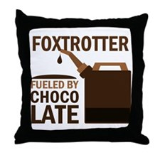 Fox trotter Fueled by chocolate Throw Pillow