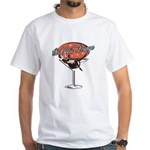 Retro Cocktail Lounge Pin Up Girl White T-Shirt
