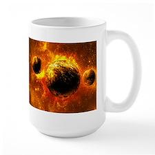 Orange Planet Art Mugs