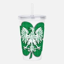 Cute St patricks day is christmas for drinks Acrylic Double-wall Tumbler