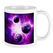 Purple Planet Art Mugs