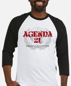 Agenda 21 color Baseball Jersey