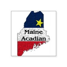 maine acadian with text Large Sticker