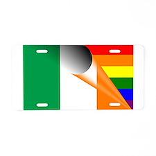 Ireland Gay Pride Rainbow Flag Aluminum License Pl
