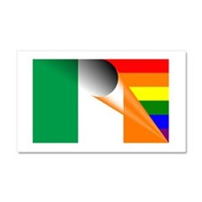 Ireland Gay Pride Rainbow Flag Car Magnet 20 x 12