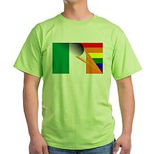 Ireland Gay Pride Rainbow Flag T-Shirt