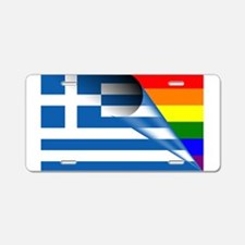 Greece Gay Pride Rainbow Flags Aluminum License Pl