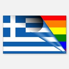 Greece Gay Pride Rainbow Flags Decal