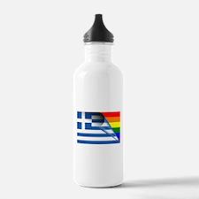 Greece Gay Pride Rainbow Flags Water Bottle