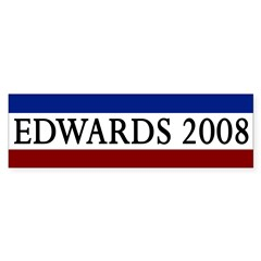 Edwards 2008 Bumper Bumper Sticker
