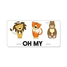Lion tigers bears oh my Aluminum License Plate