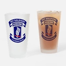 Offical 173rd Brigade Logo Drinking Glass