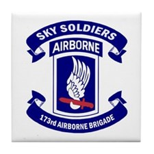 Offical 173rd Brigade Logo Tile Coaster