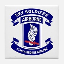 Offical 173rd Brigade Logo Tile Coaster