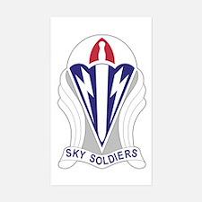 Unit Insignia: 173rd Airborne Sticker (rectangle)