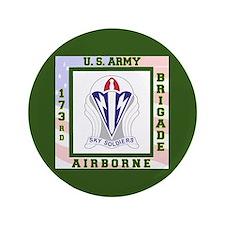 """Airborne! 173rd Brigade 3.5"""" Button"""