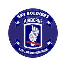 """Offical 173rd Brigade Logo 3.5"""" Button"""