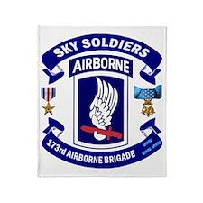 173rd Infantry Logo Throw Blanket