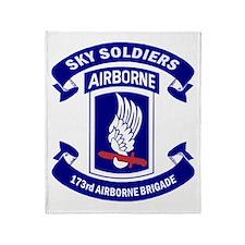 Offical 173rd Brigade Logo Throw Blanket