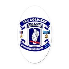 173rd Infantry Logo Oval Car Magnet