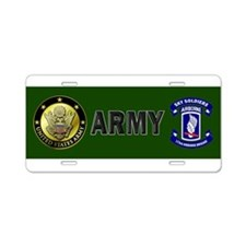 Offical 173rd Brigade Logo Aluminum License Plate